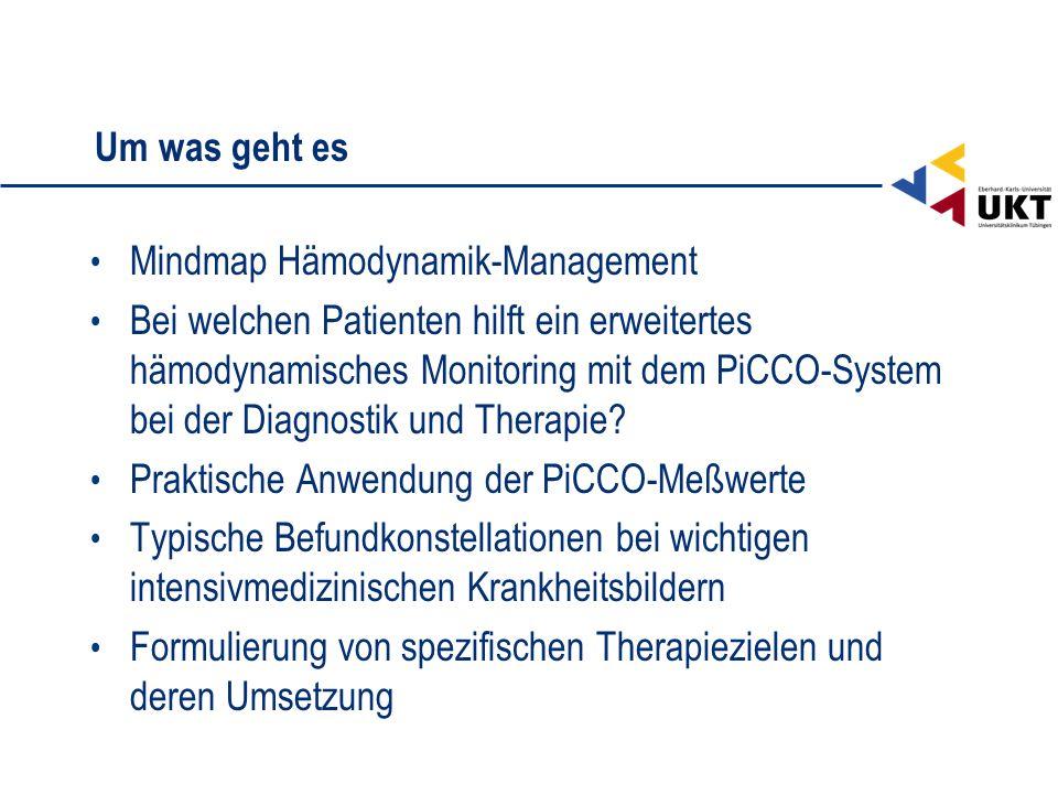 Um was geht es Mindmap Hämodynamik-Management.