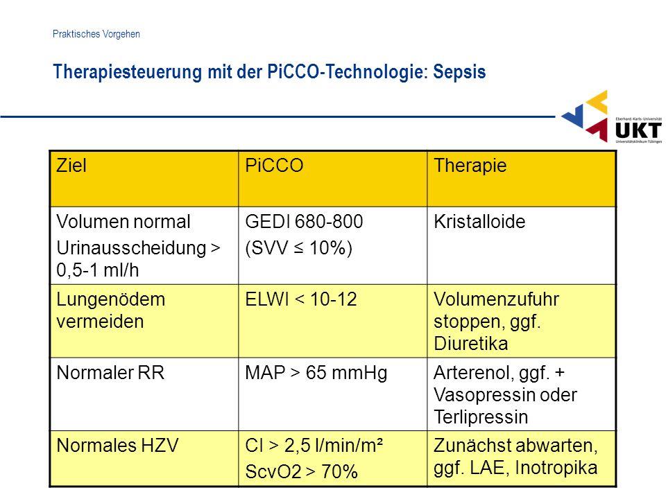 Therapiesteuerung mit der PiCCO-Technologie: Sepsis