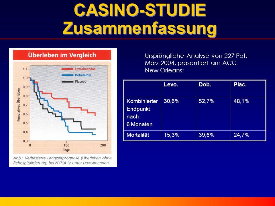 CASINO-STUDIE Zusammenfassung