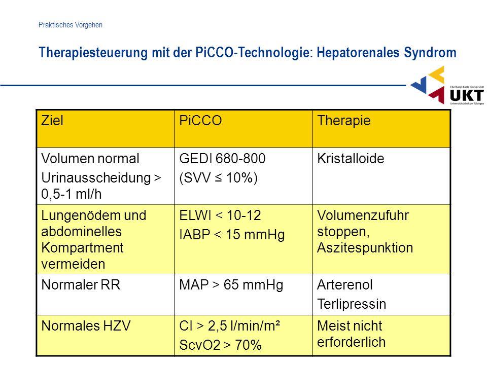 Therapiesteuerung mit der PiCCO-Technologie: Hepatorenales Syndrom