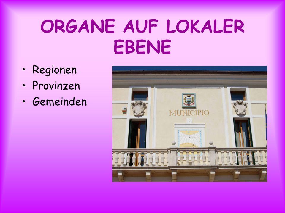 ORGANE AUF LOKALER EBENE