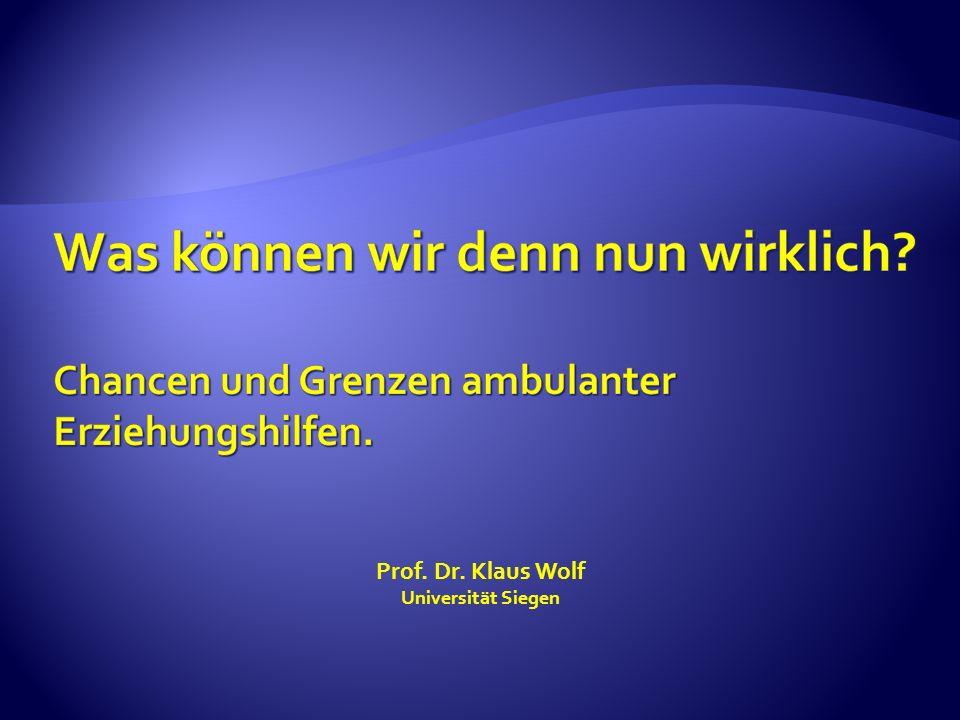 Prof. Dr. Klaus Wolf Universität Siegen