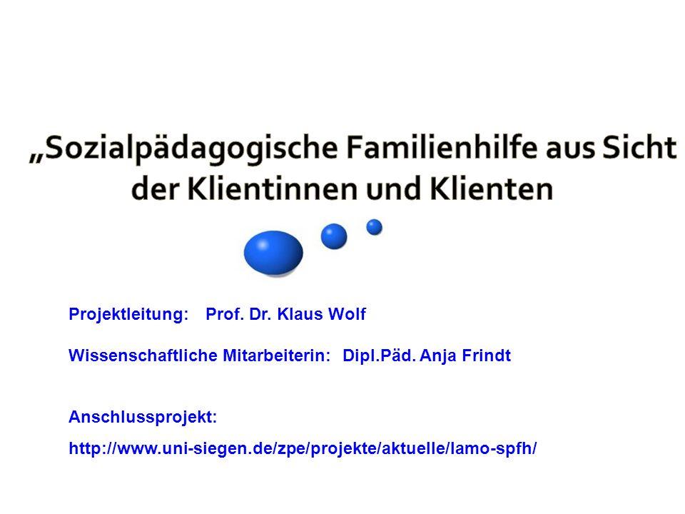 """""""Sozialpädagogische Familienhilfe aus Sicht der Klientinnen und Klienten"""