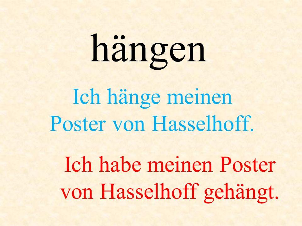 Ich hänge meinen Poster von Hasselhoff.