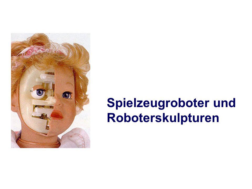 Spielzeugroboter und Roboterskulpturen
