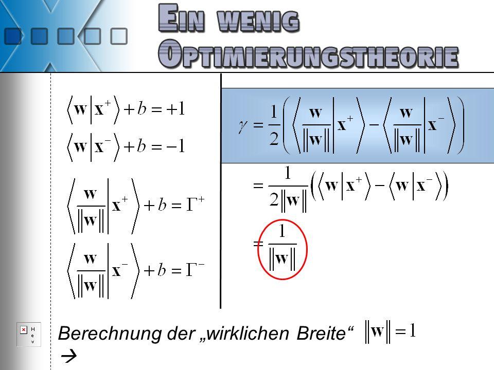"""Berechnung der """"wirklichen Breite """