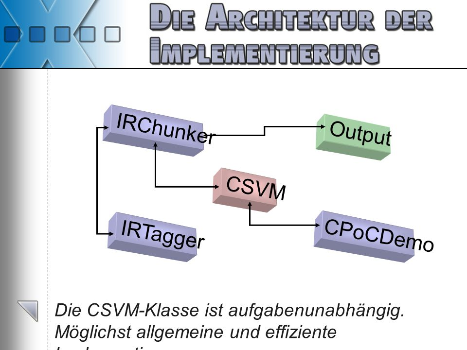IRChunker Output CSVM IRTagger CPoCDemo