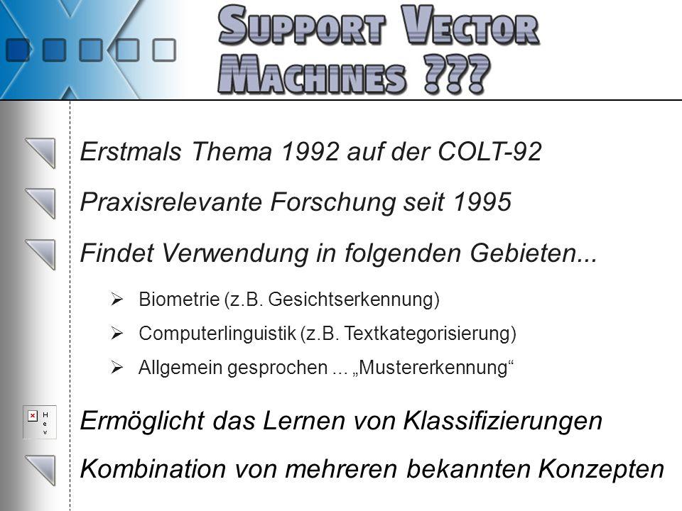 Erstmals Thema 1992 auf der COLT-92