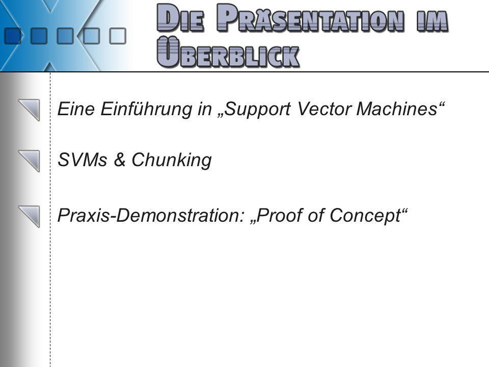 """Eine Einführung in """"Support Vector Machines"""