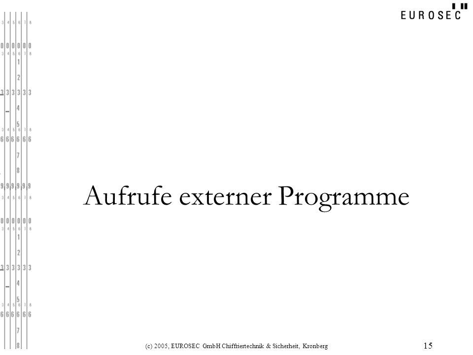 Aufrufe externer Programme