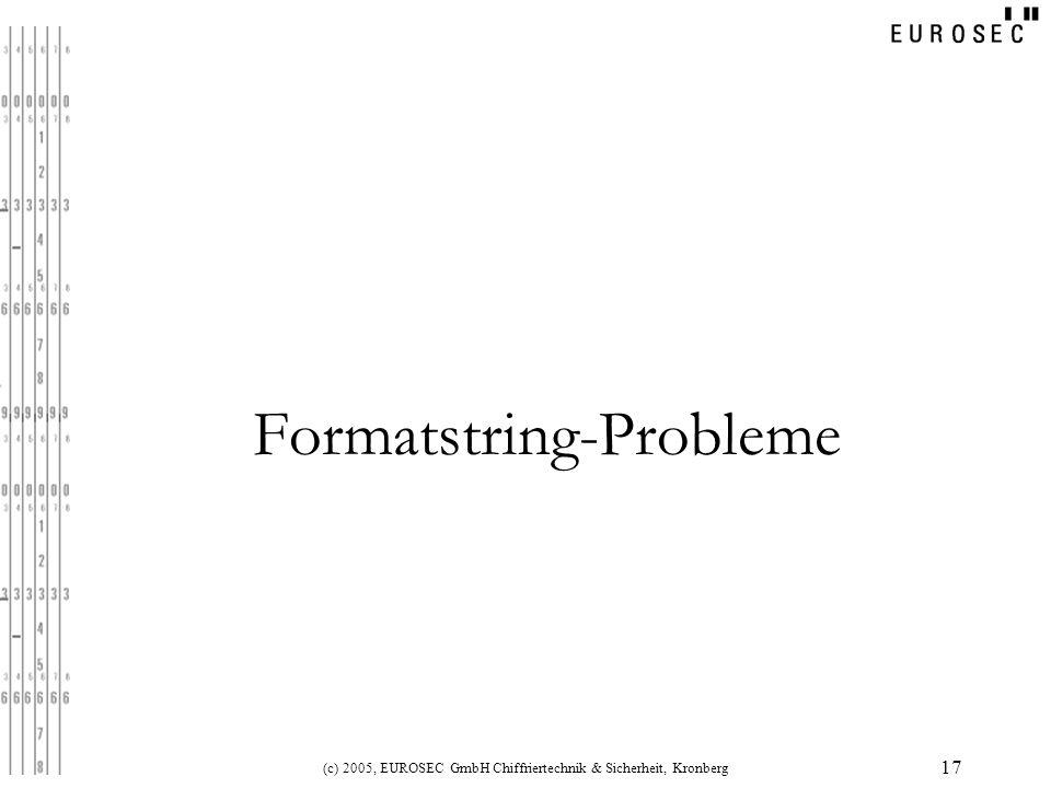 Formatstring-Probleme