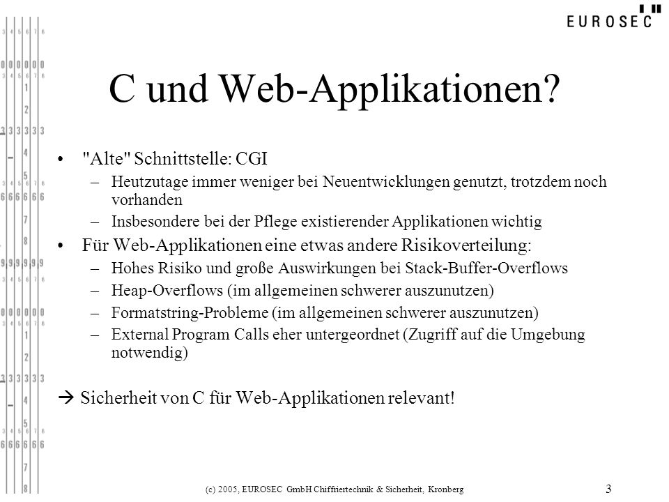 C und Web-Applikationen