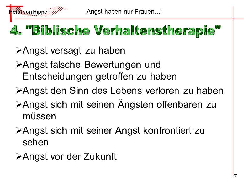 4. Biblische Verhaltenstherapie