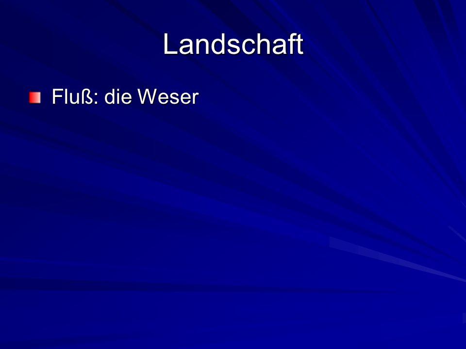 Landschaft Fluß: die Weser