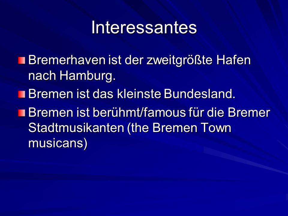Interessantes Bremerhaven ist der zweitgrößte Hafen nach Hamburg.