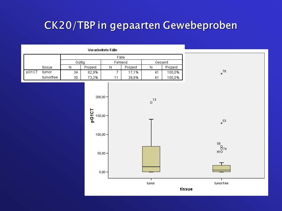 CK20/TBP in gepaarten Gewebeproben