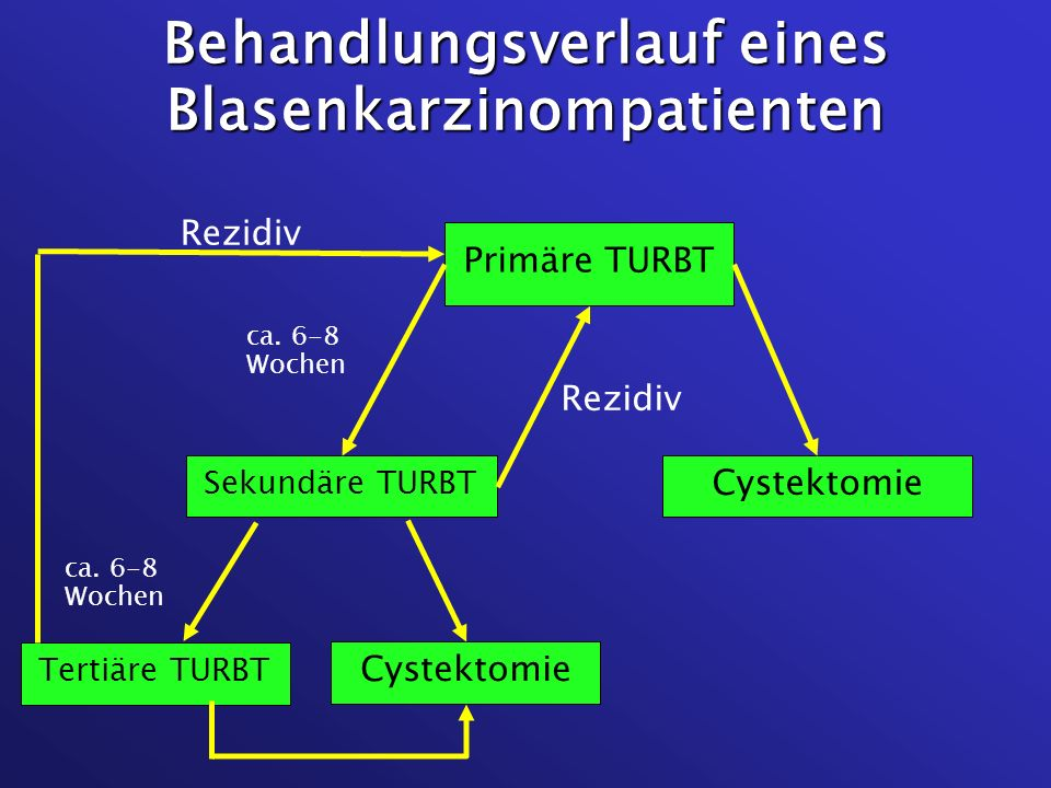 Behandlungsverlauf eines Blasenkarzinompatienten
