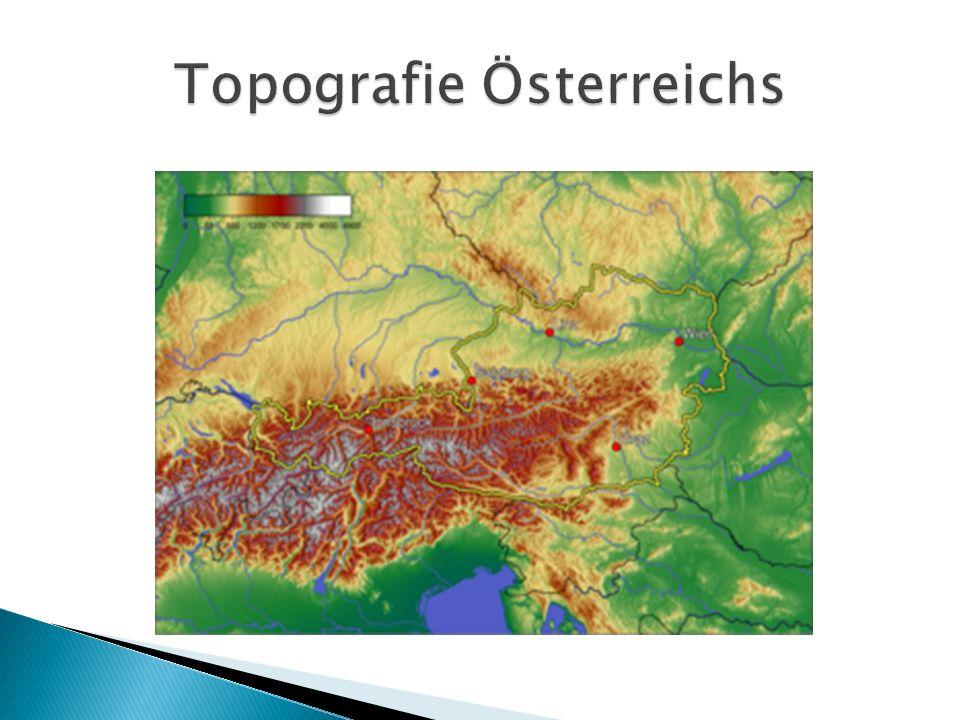 Topografie Österreichs