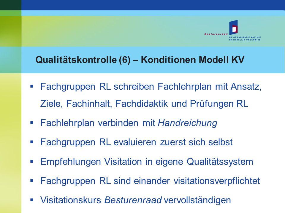 Qualitätskontrolle (6) – Konditionen Modell KV