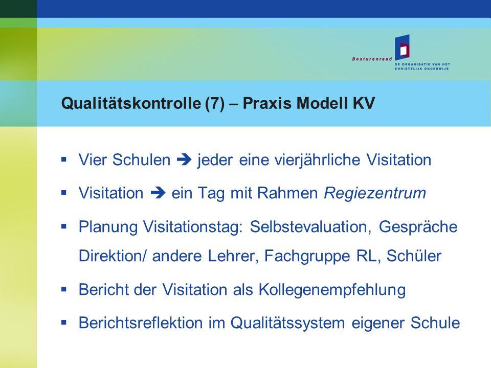 Qualitätskontrolle (7) – Praxis Modell KV