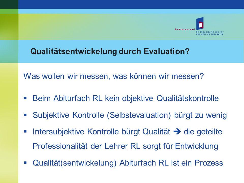 Qualitätsentwickelung durch Evaluation