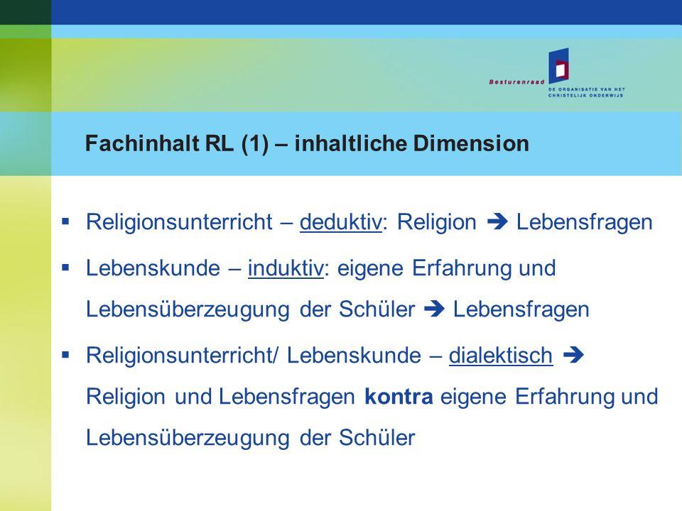 Fachinhalt RL (1) – inhaltliche Dimension