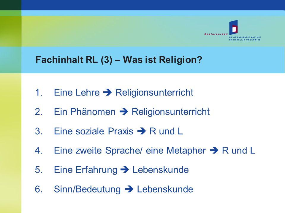 Fachinhalt RL (3) – Was ist Religion