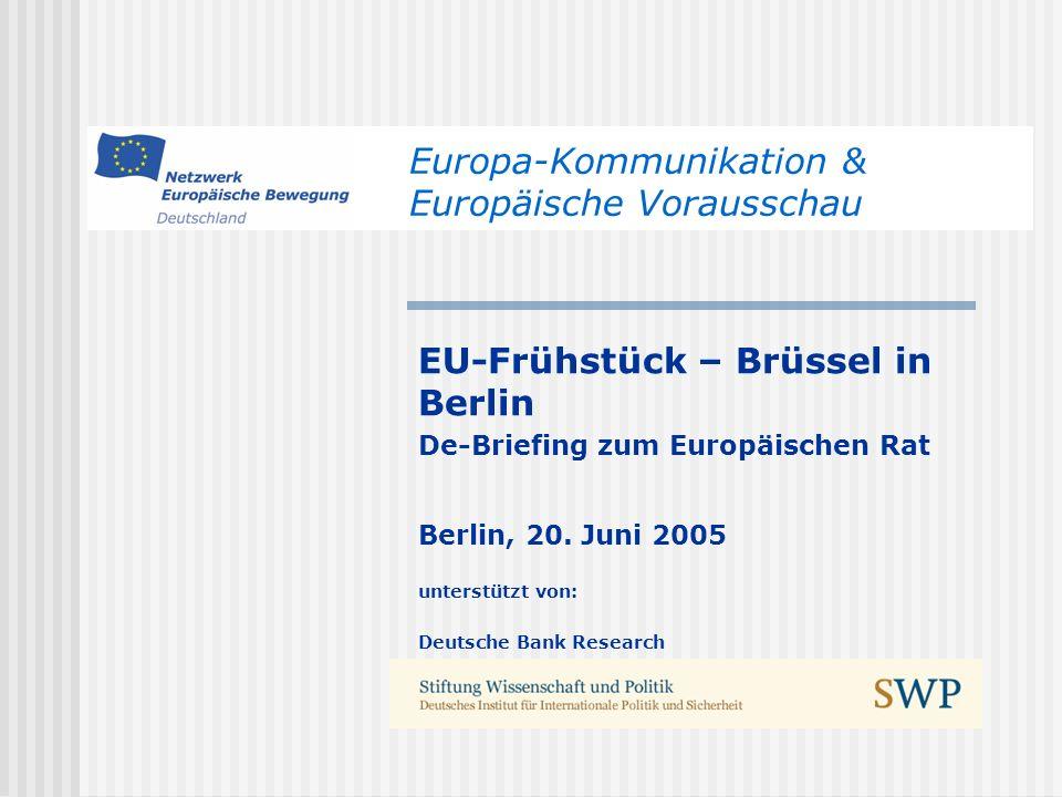 Europa-Kommunikation & Europäische Vorausschau
