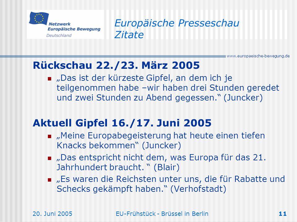 Europäische Presseschau Zitate