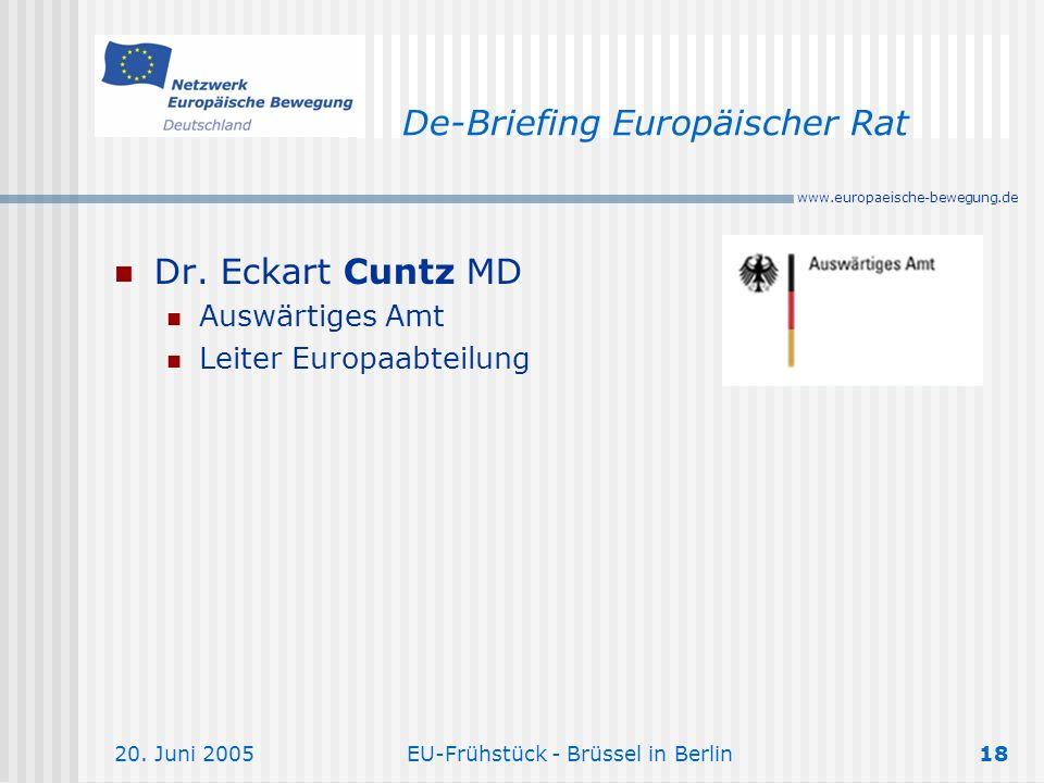 De-Briefing Europäischer Rat
