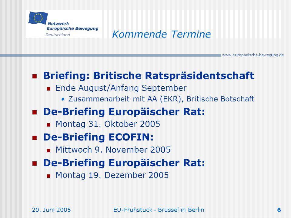 EU-Frühstück - Brüssel in Berlin