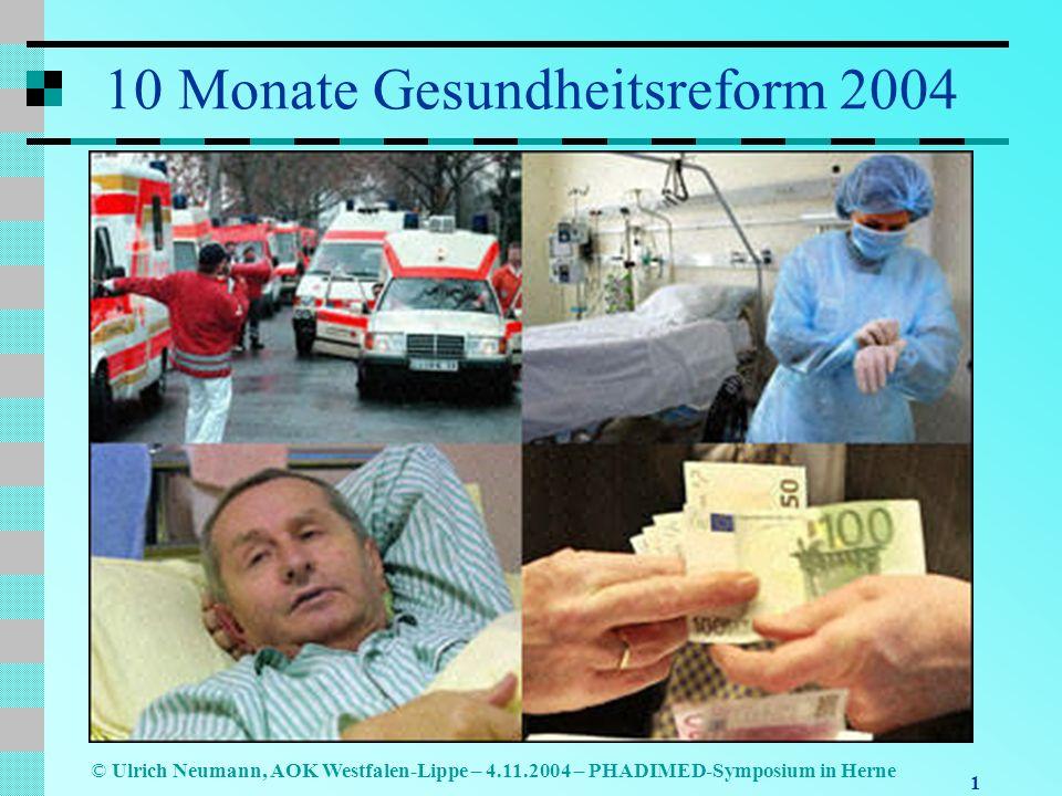 10 Monate Gesundheitsreform 2004