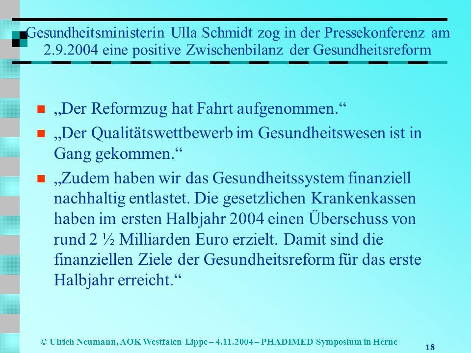 """""""Der Reformzug hat Fahrt aufgenommen."""