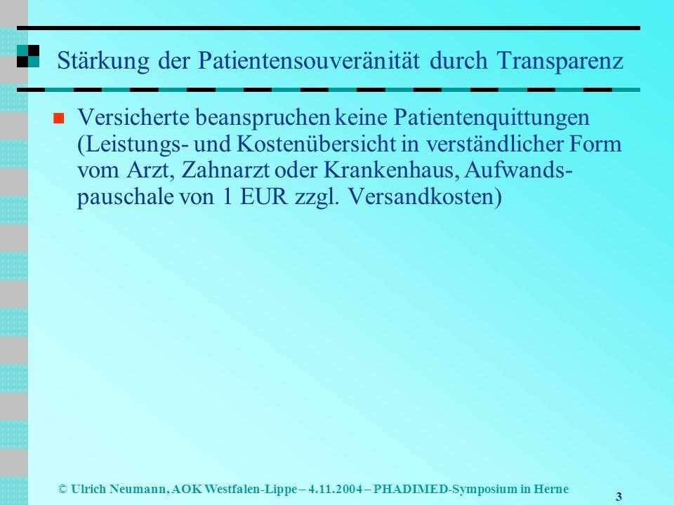 Stärkung der Patientensouveränität durch Transparenz