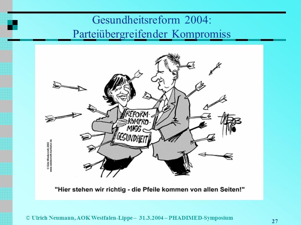 Gesundheitsreform 2004: Parteiübergreifender Kompromiss