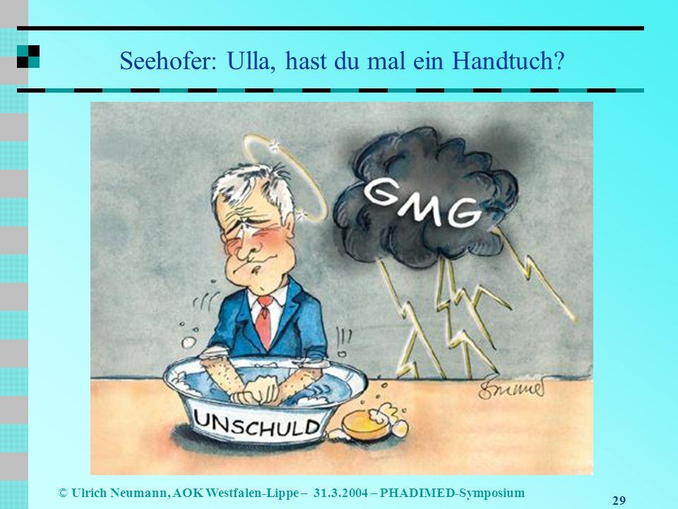 Seehofer: Ulla, hast du mal ein Handtuch