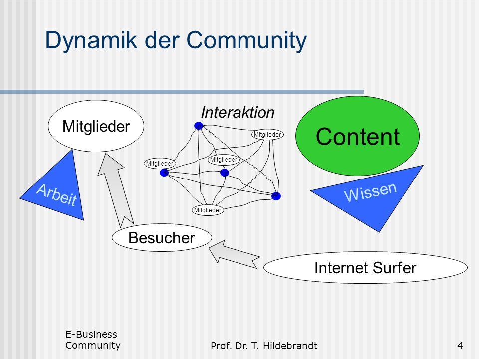 Dynamik der Community Content Interaktion Mitglieder Arbeit Wissen