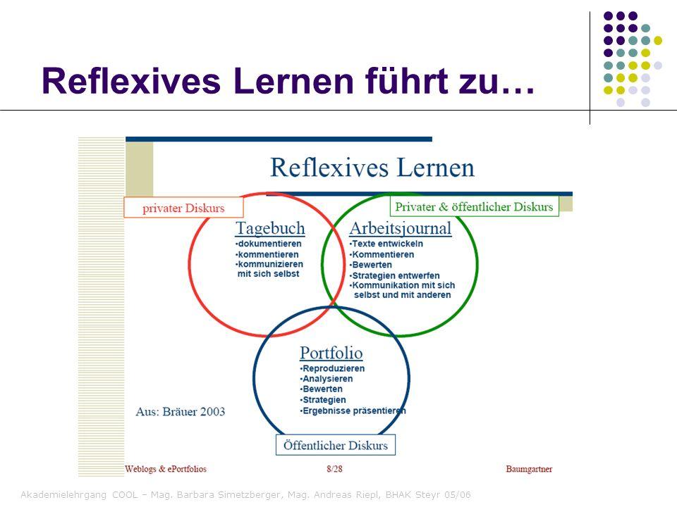 Reflexives Lernen führt zu…