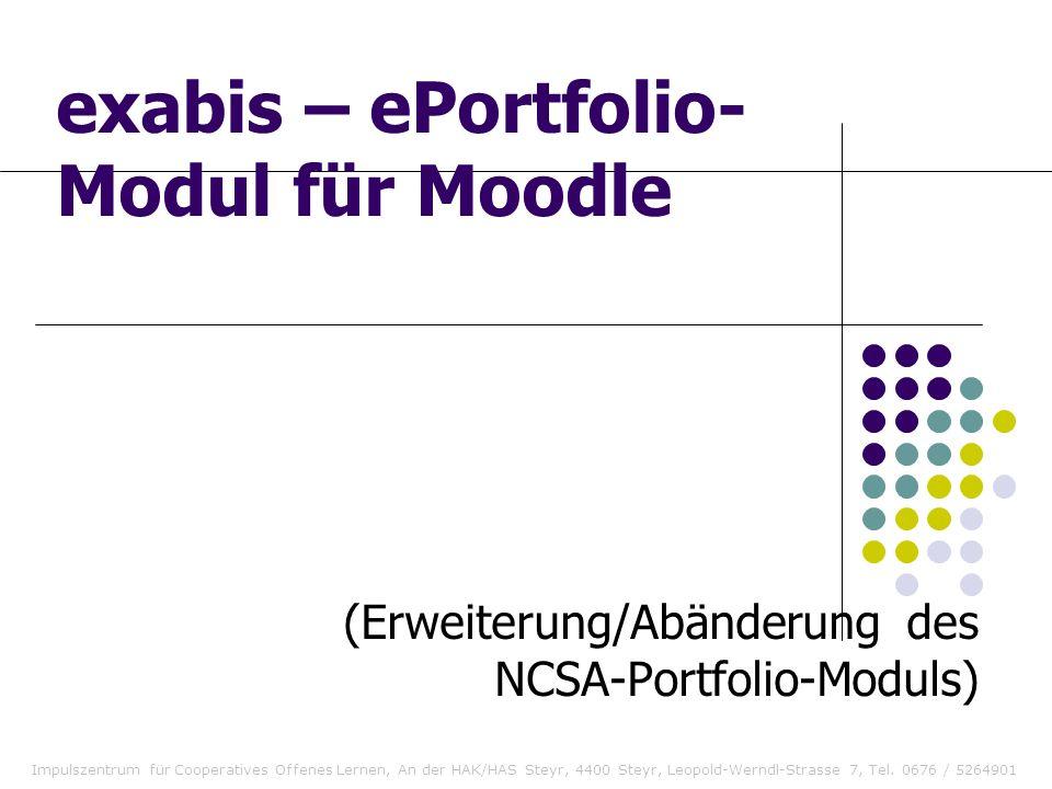 exabis – ePortfolio-Modul für Moodle
