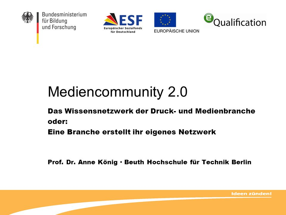 Mediencommunity 2.0 Das Wissensnetzwerk der Druck- und Medienbranche