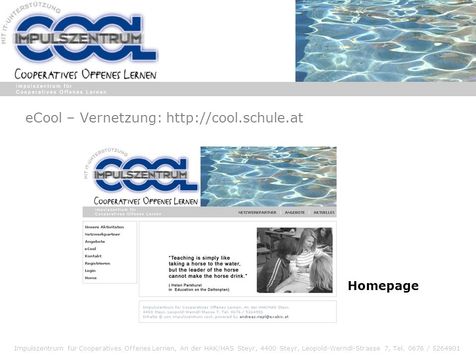 eCool – Vernetzung: http://cool.schule.at