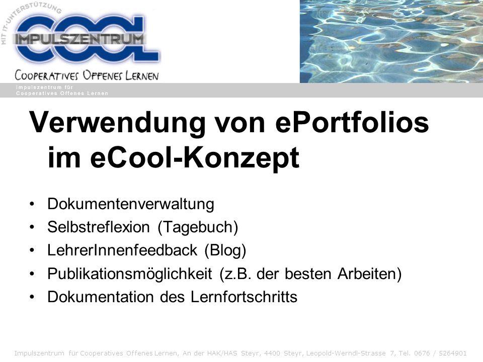 Verwendung von ePortfolios im eCool-Konzept