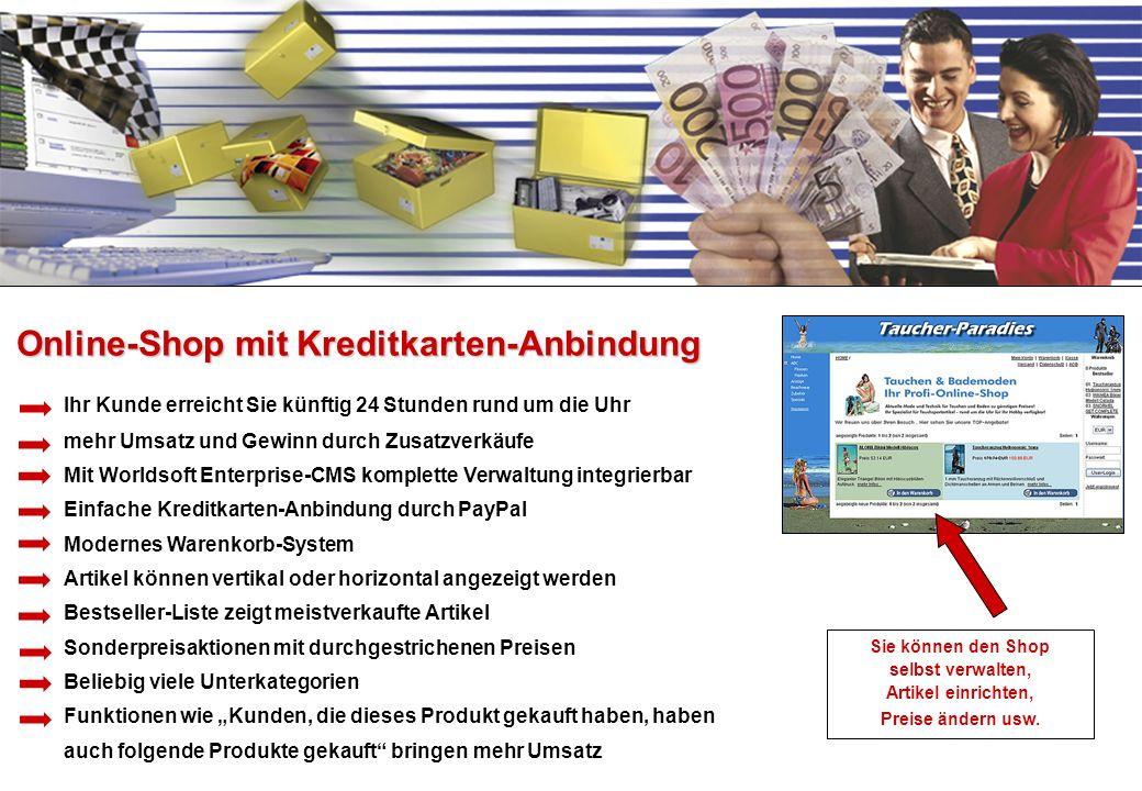 Online-Shop mit Kreditkarten-Anbindung