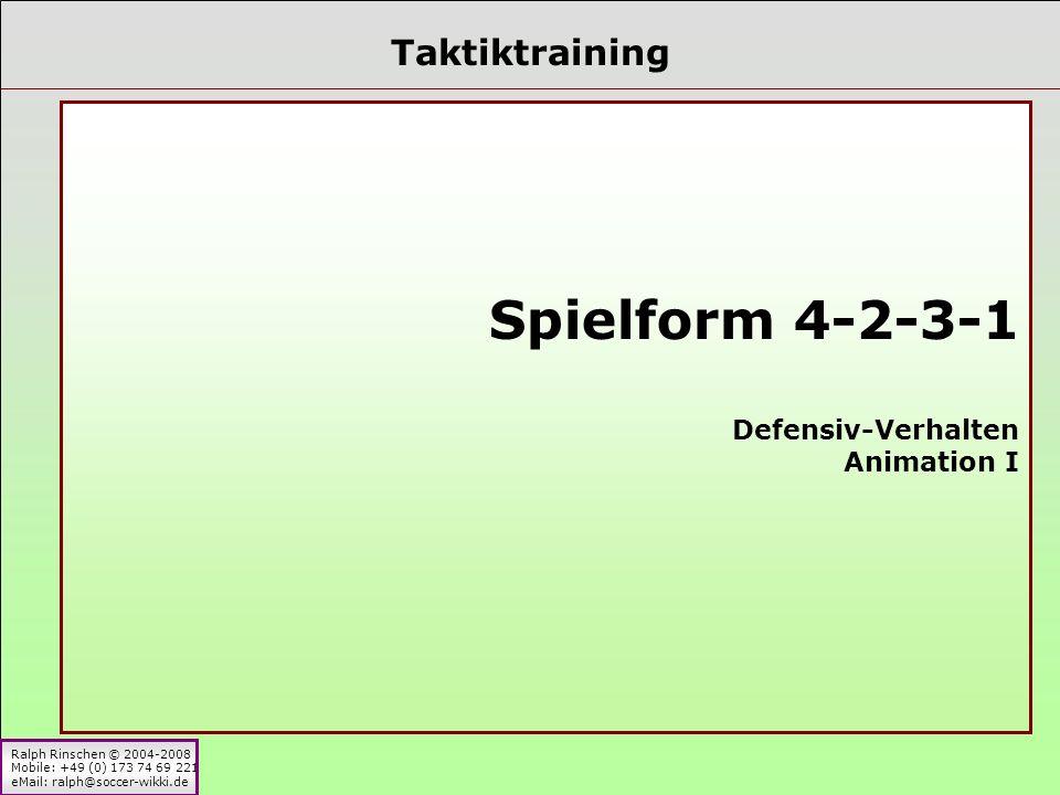 Taktiktraining Spielform 4-2-3-1 Defensiv-Verhalten Animation I