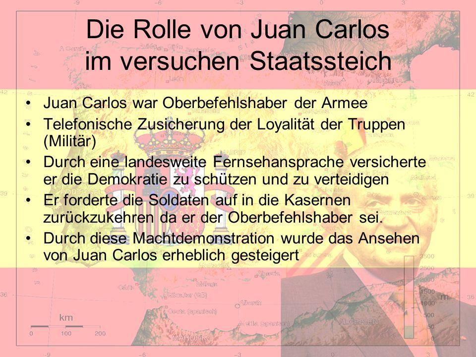 Die Rolle von Juan Carlos im versuchen Staatssteich