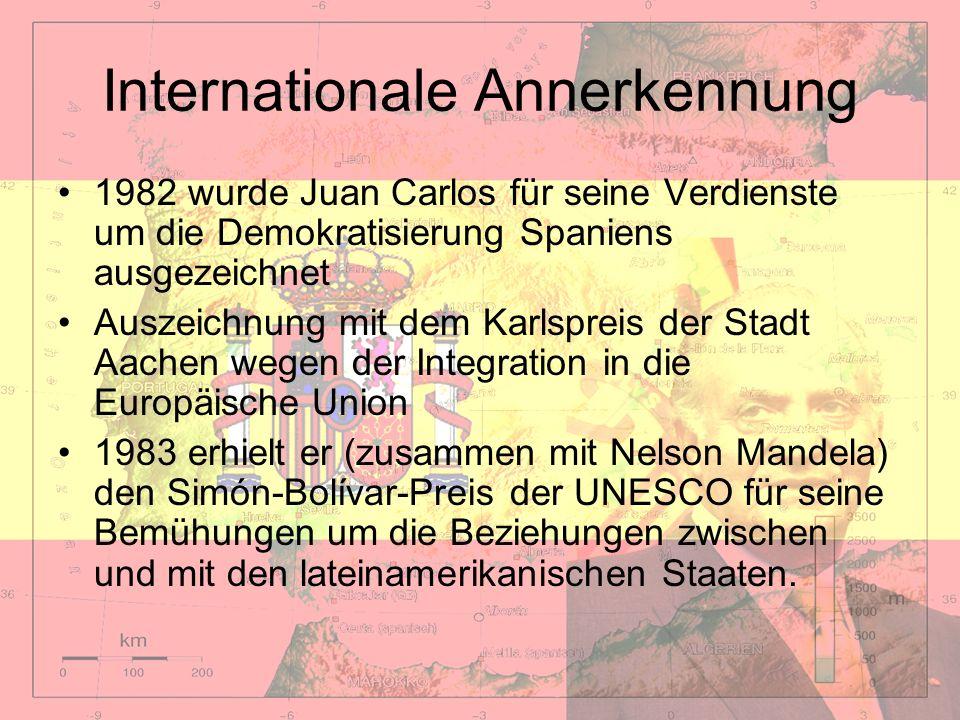 Internationale Annerkennung