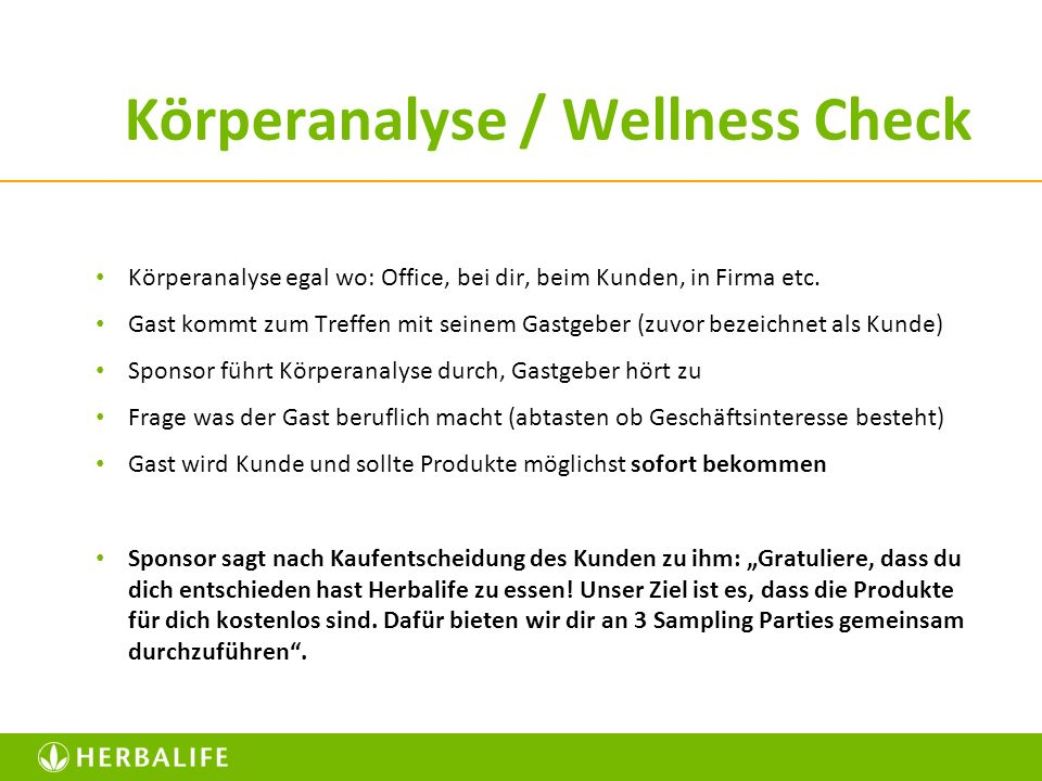 Körperanalyse / Wellness Check