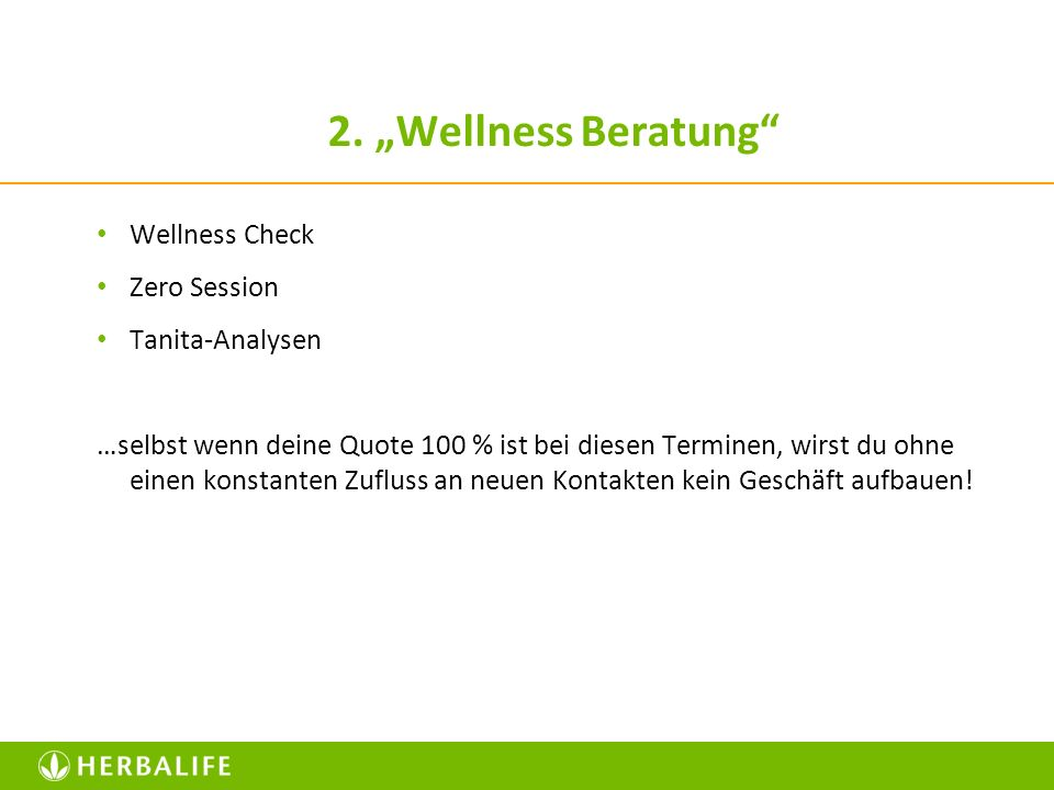 "2. ""Wellness Beratung Wellness Check Zero Session Tanita-Analysen"