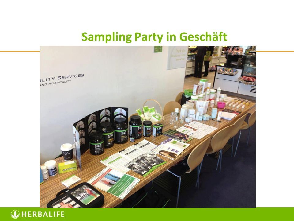 Sampling Party in Geschäft