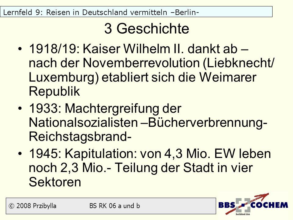 3 Geschichte 1918/19: Kaiser Wilhelm II. dankt ab – nach der Novemberrevolution (Liebknecht/ Luxemburg) etabliert sich die Weimarer Republik.